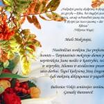 Sveikinimas mokytojo dienai 2015